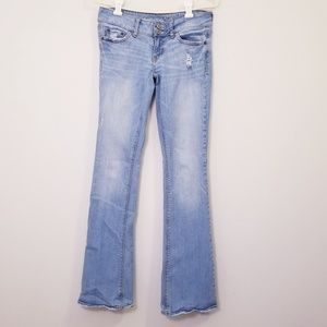 American Eagle Light Wash Size 0 Long Jeans